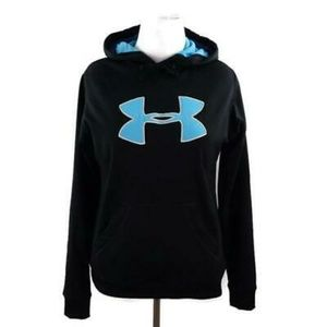 Under Armour Black Full Zip Hoodie Womens Sz L